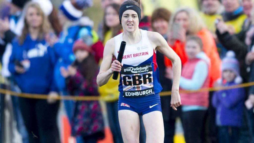 Laura Muir competes in the Great Edinburgh Cross Country