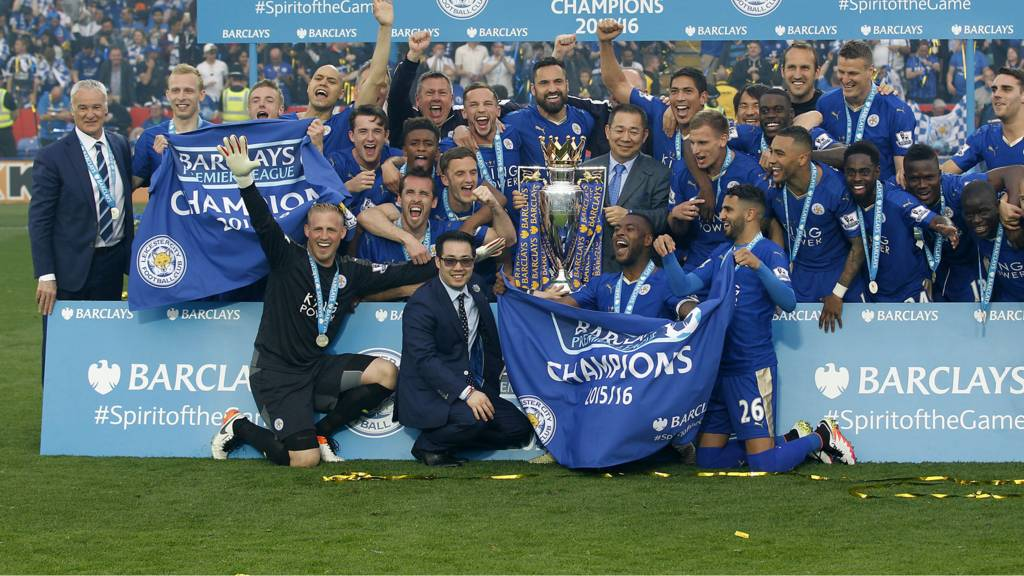 Leicester win the Premier League