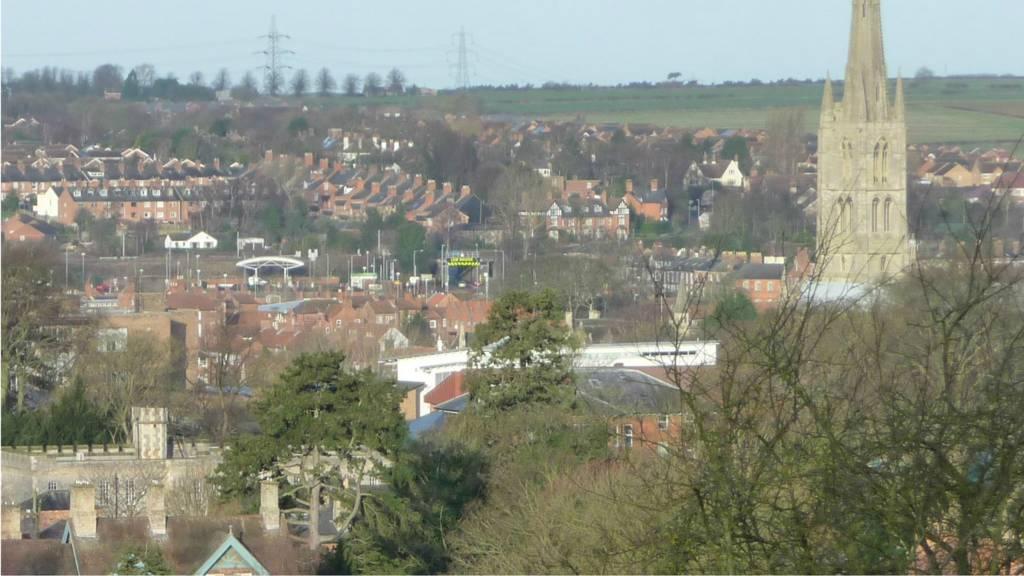 Grantham skyline