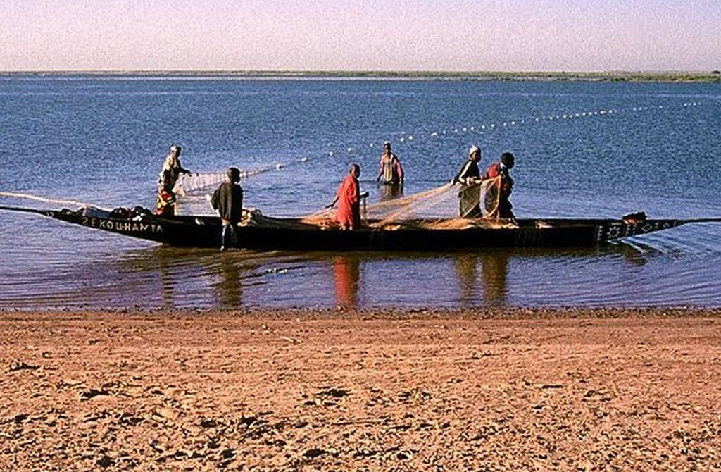 The river of sand in Mali