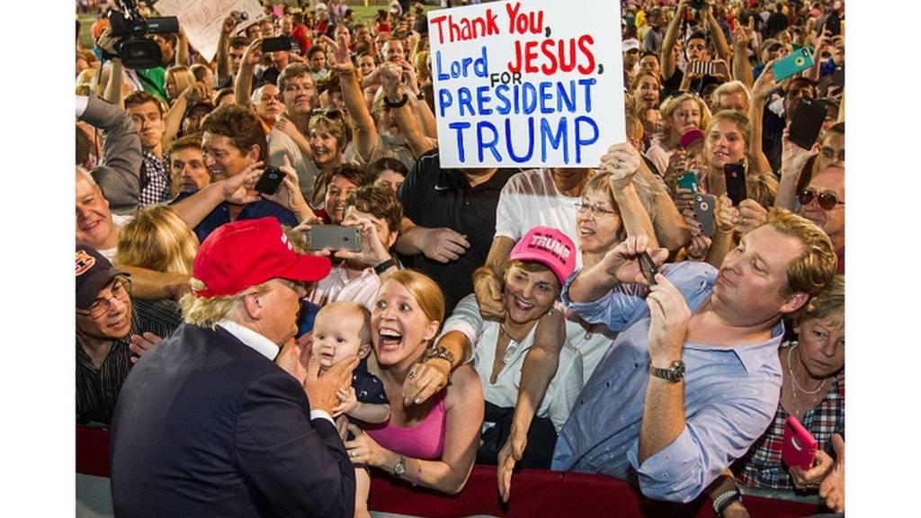 Supporters de Donald Trump le 21 août 2015