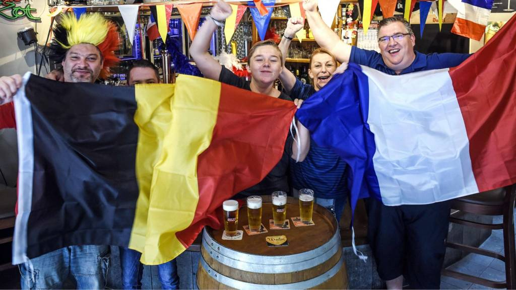 Belgium and France fans