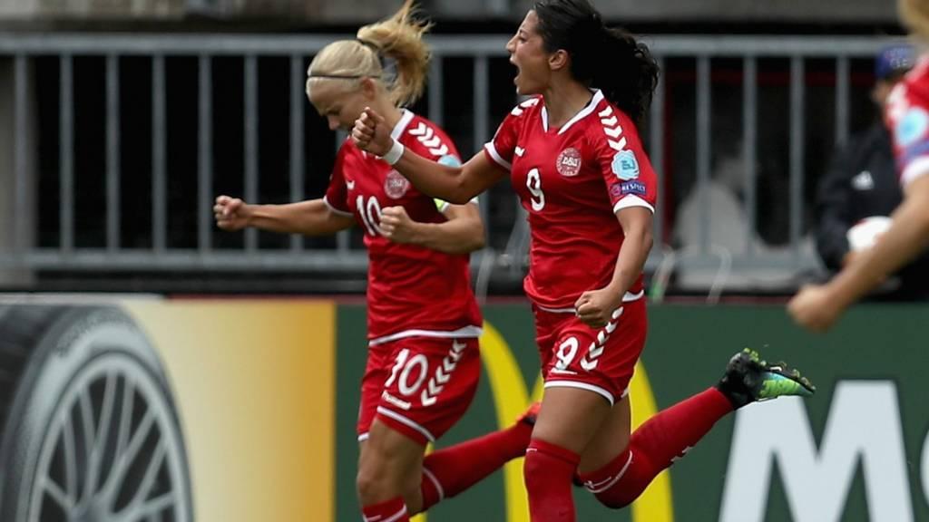 Nadia Nadim of Denmark celebrates