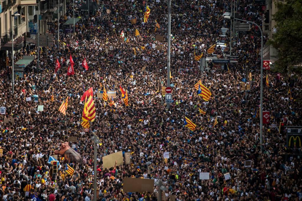 مظاهرة في اقليم كتالونيا