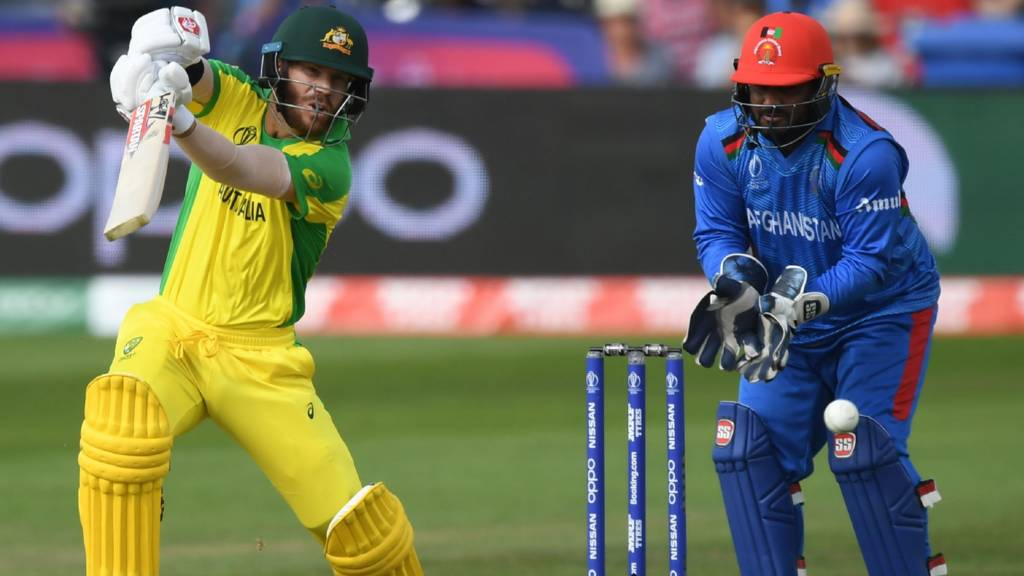 Afghanistan v Australia in the ICC Cricket World Cup - in-play clips