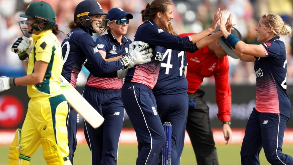England team celebrate win