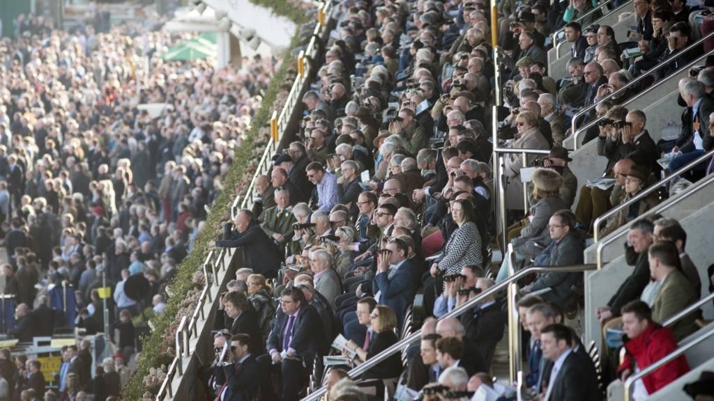 Spectators at the Cheltenham Festival