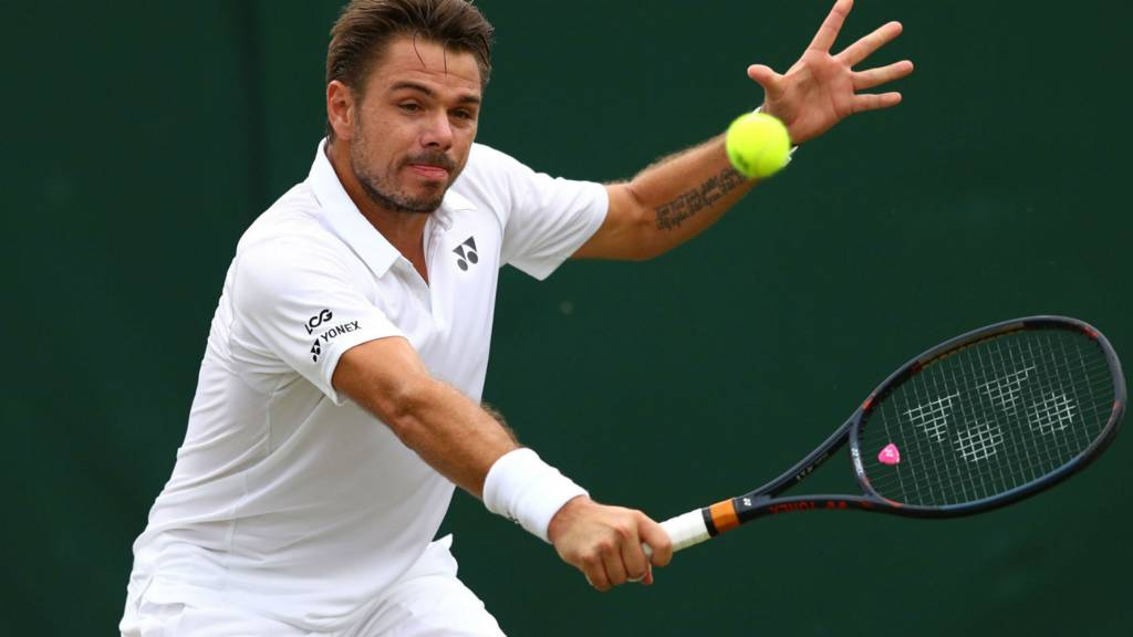 Wawrinka falls for tall tale at Wimbledon as Djokovic waits