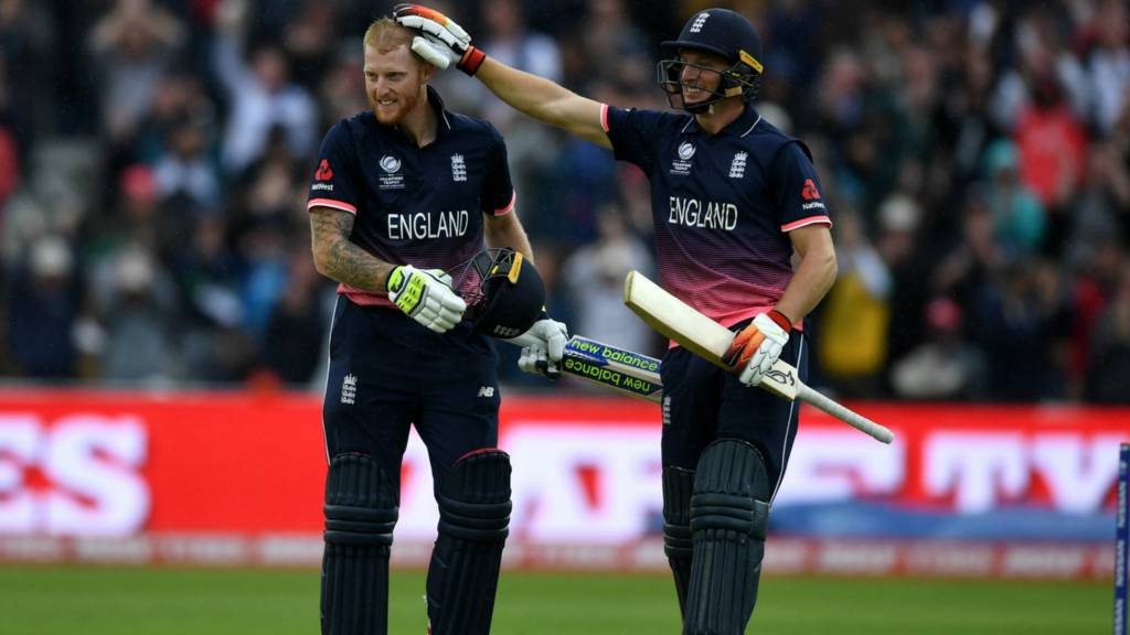 England's Ben Stokes and Jos Buttler