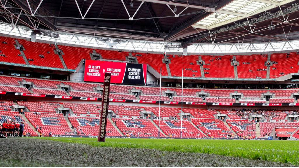 Wembley Stadium ahead of the Challenge Cup final