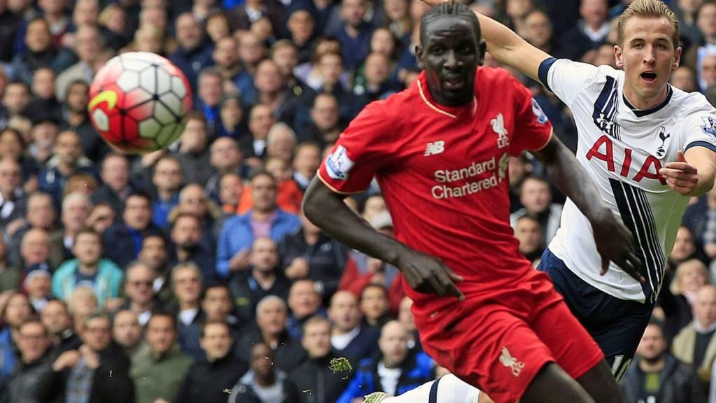 Tottenham striker Harry Kane in action against Liverpool