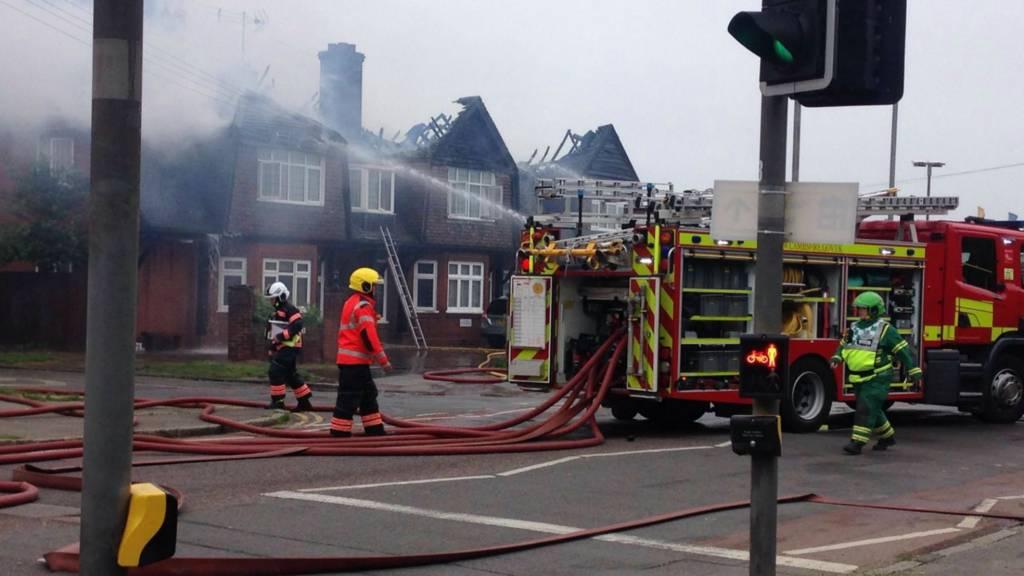 Hotel fire in Cambridge