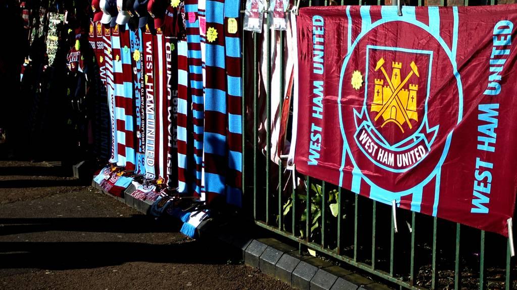 West Ham flags
