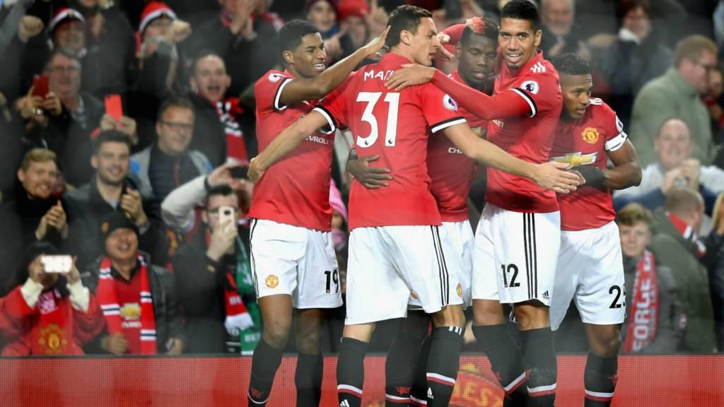 Pogba celebrates scoring