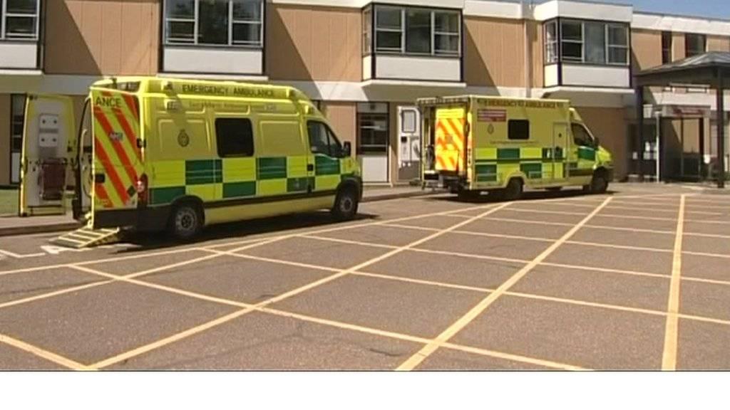 QEH and ambulances