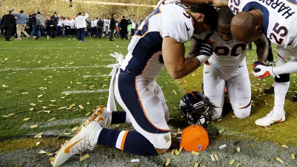 Denver Broncos celebrate