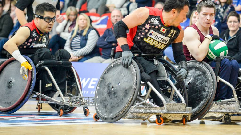 Great Britain's Wheelchair Rugby team in action