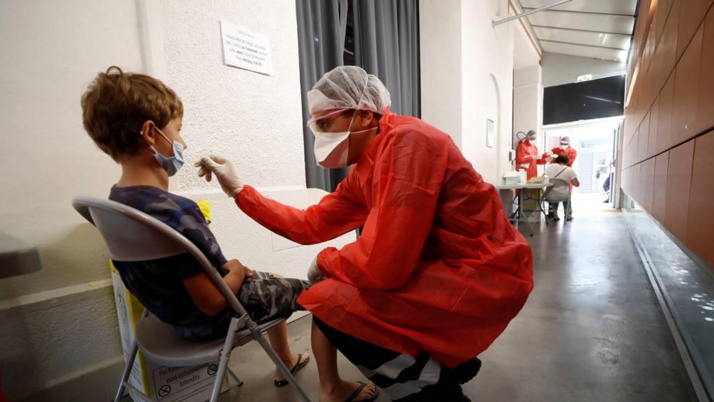 Coronavirus testing in Marseille, France