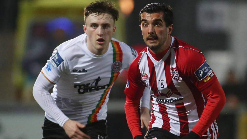 Action from Bohemians and Derry City