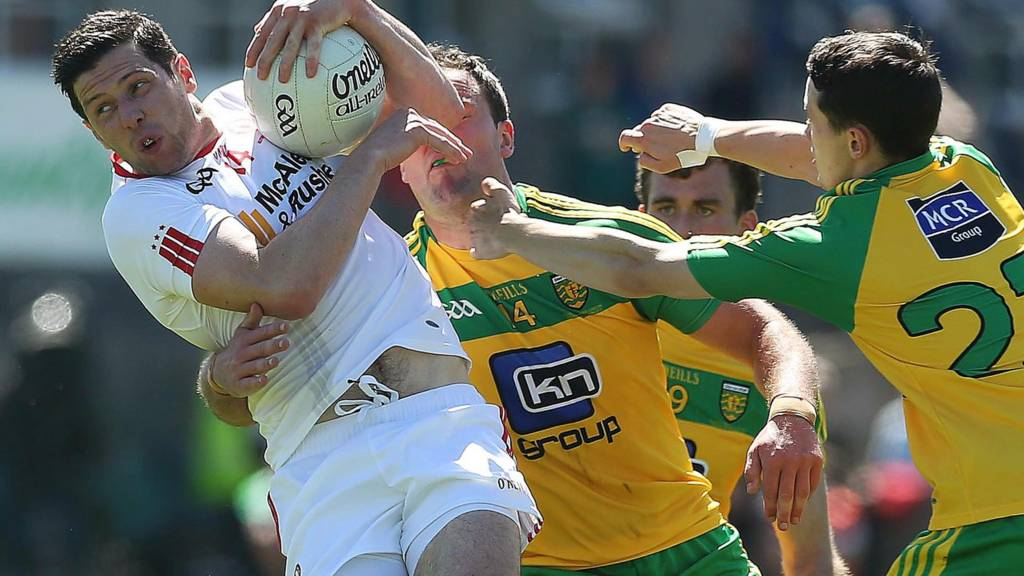 Action from Tyrone against Donegal
