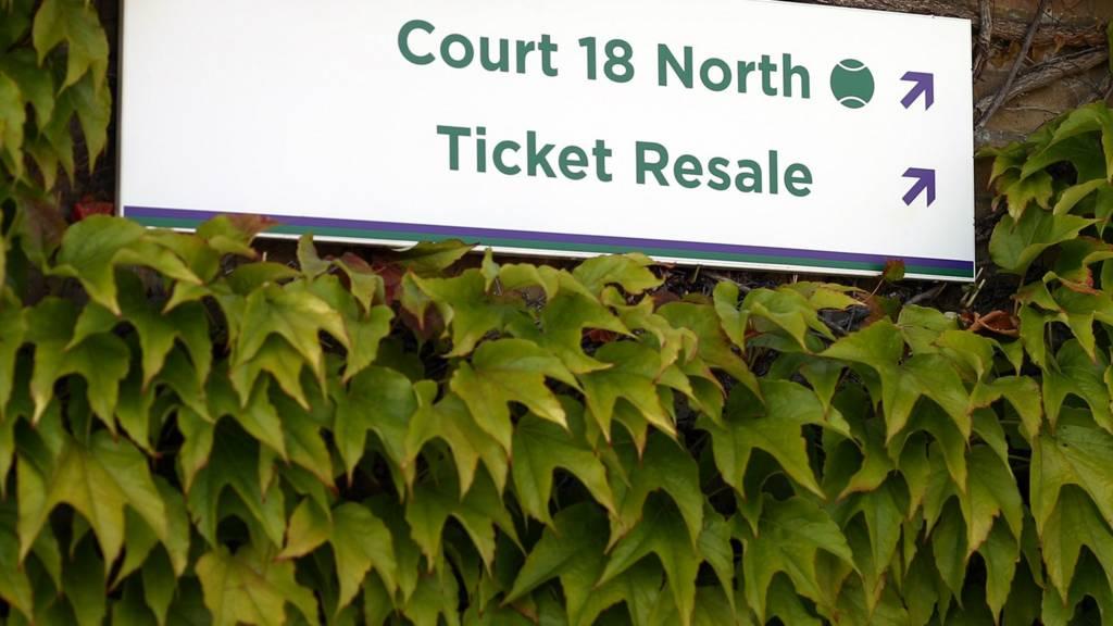 Ticket resale sign
