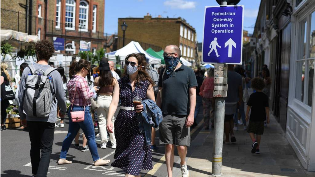 Face masks will be mandatory in shops in England from 24 July