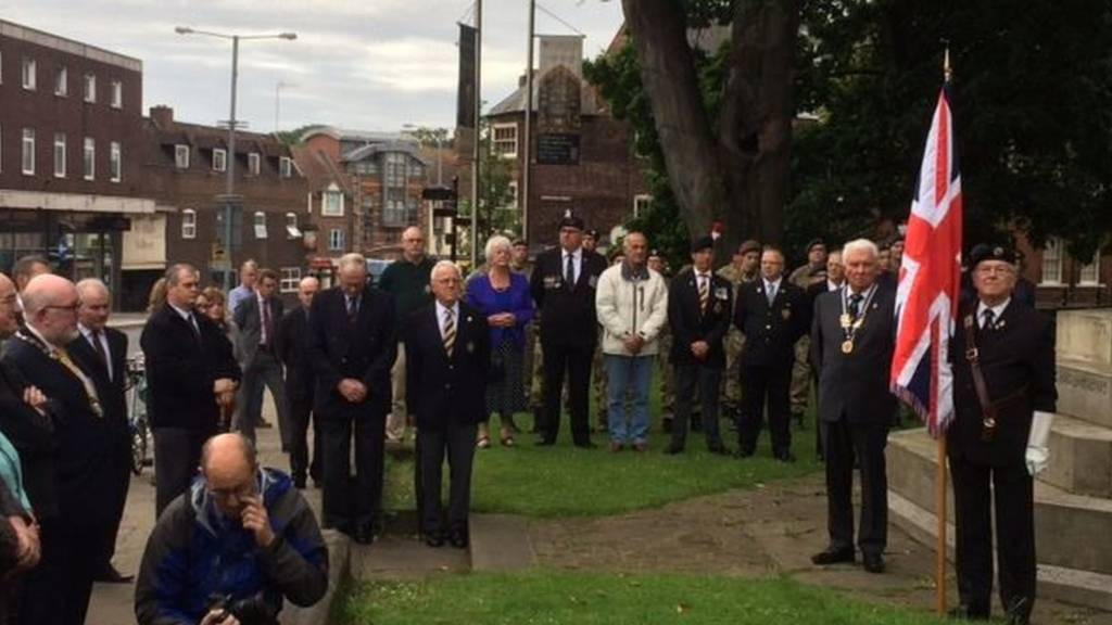 Somme service at Worcester Cathedral