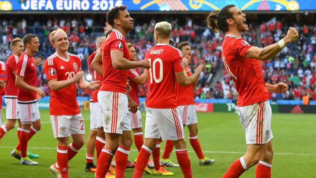 Wales team celebrating