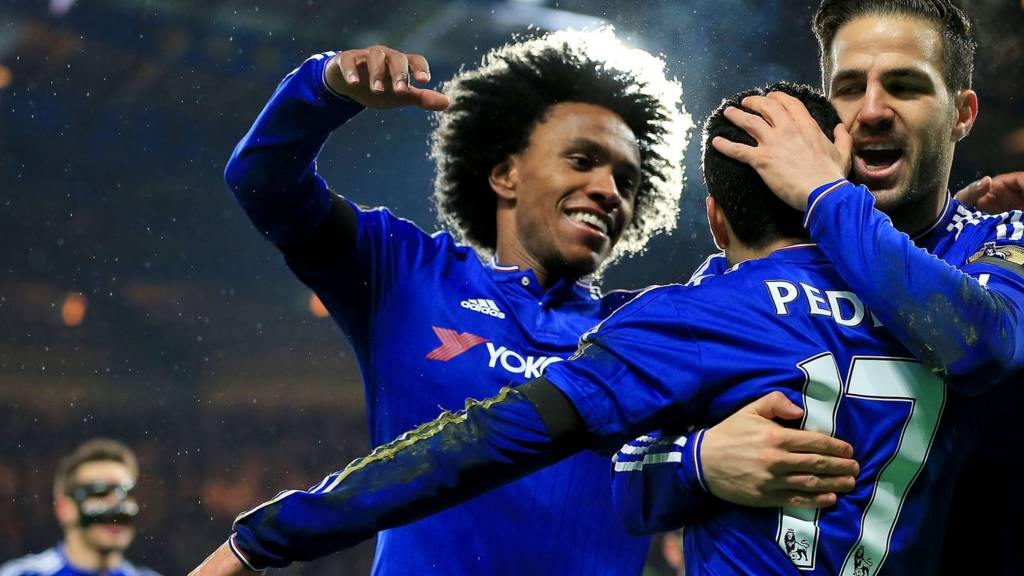 Willian of Chelsea celebrates