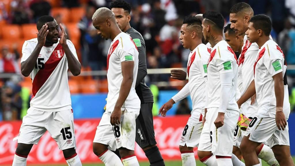 Peru team react