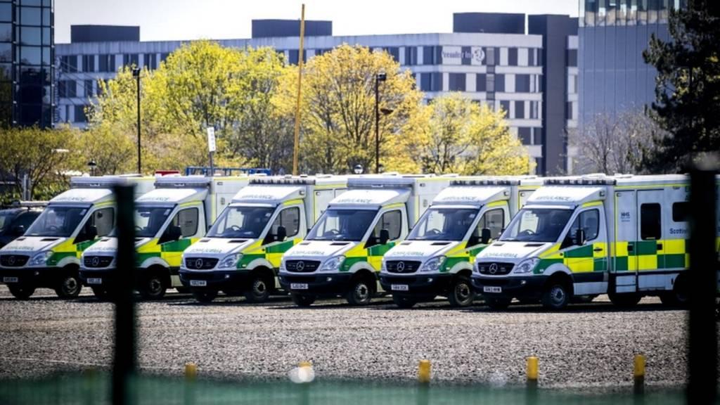 Ambulances at NHS Louisa Jordan
