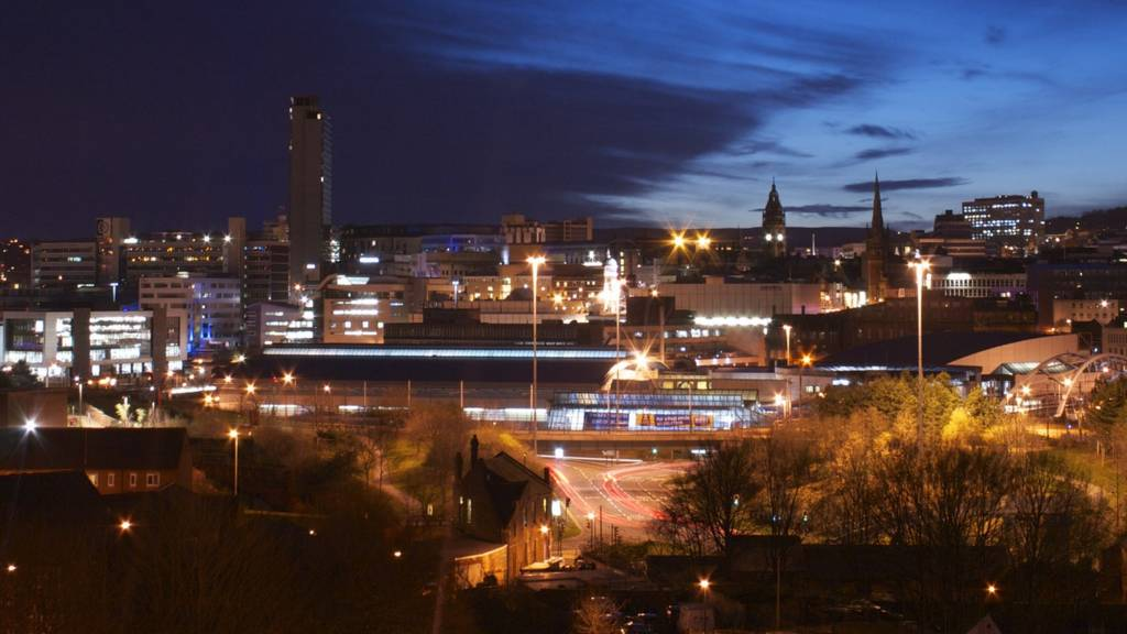 Sheffield night skyline