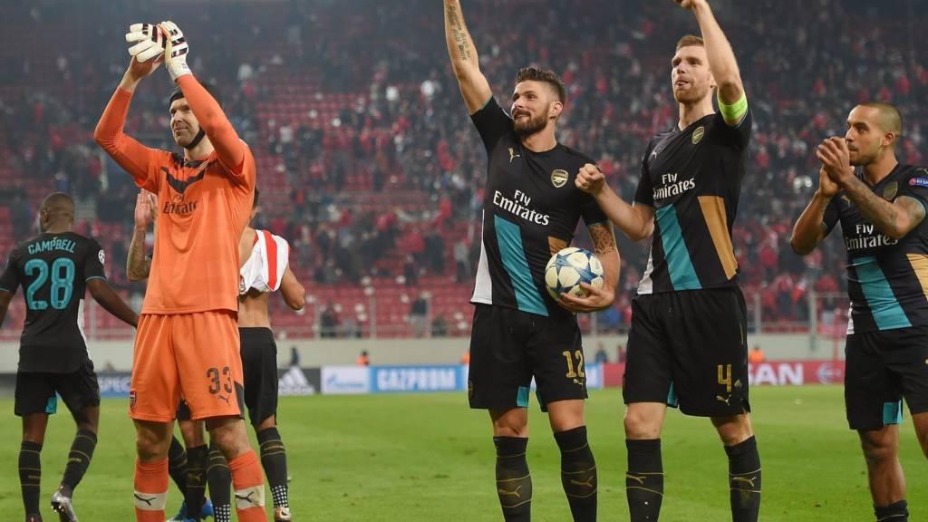Arsenal celebrate
