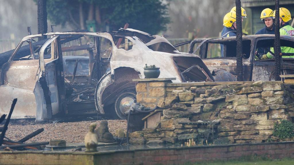 Classic car burnt out in Thorney fire