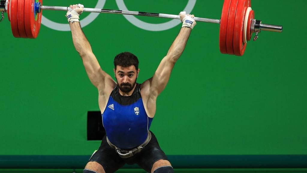 Greek weightlifter