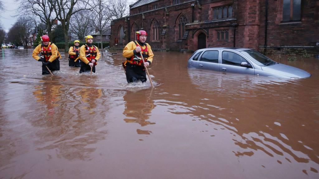 Rescuers in Warwick Road, Carlisle