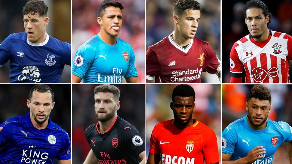 Barkley, Sanchez, Coutinho, Van Dijk, Drinkwater, Mustafi, Lemar and Oxlade-Chamberlain