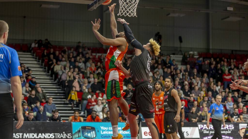 Leicester Riders and Plymouth Raiders in action
