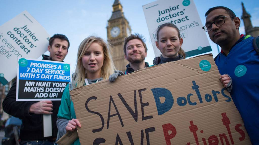Doctors' protest in London