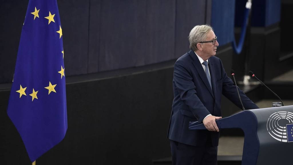Jean-Claude Juncker at the European Parliament