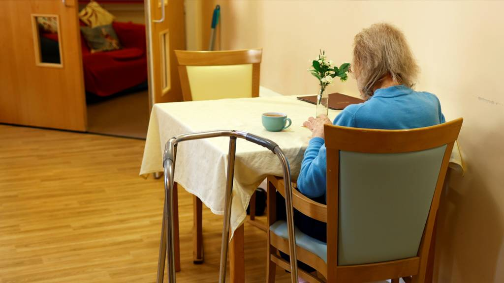 Resident practices drawing at a care home, amid the outbreak of the coronavirus disease (COVID-19), in Princes Risborough, Britain, May 4, 2020