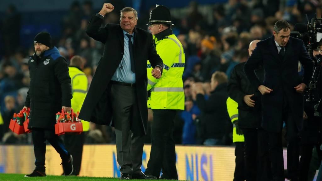 Sam Allardyce celebrates victory