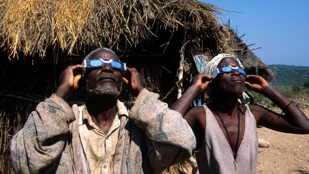 Solar eclipse Angola