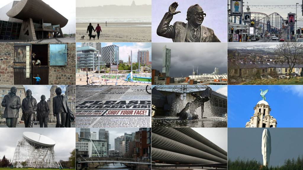 Places and statues in North West England