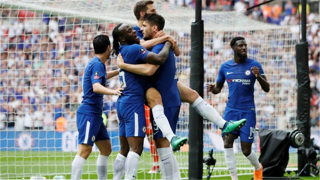 Alvaro Morata scores for Chelsea