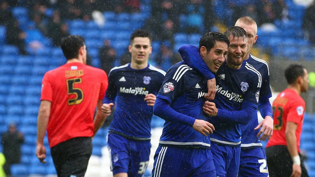 Cardiff celebrate