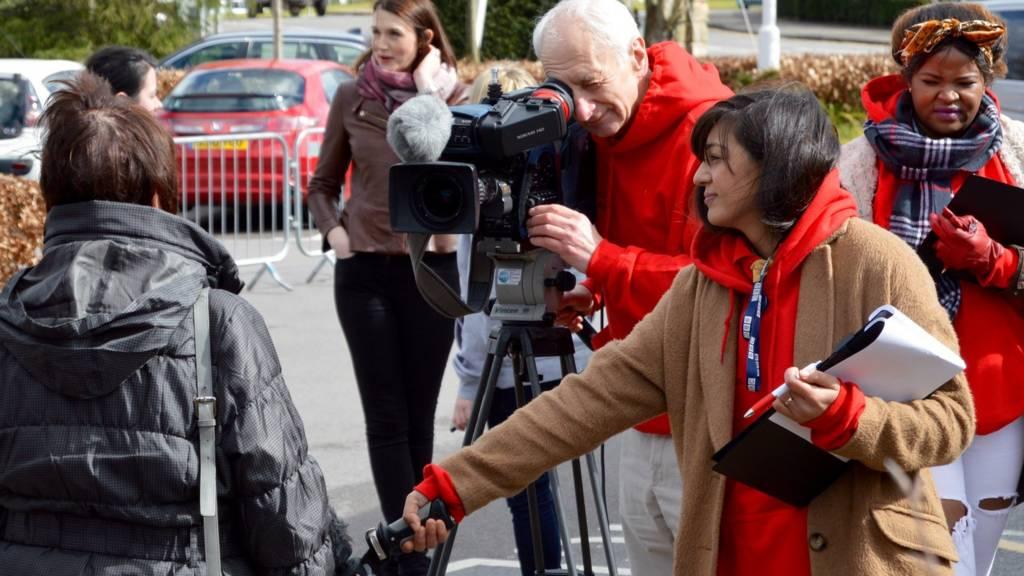 Filming at Trentham