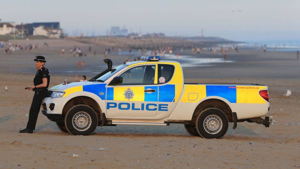 Police on Camber Sands