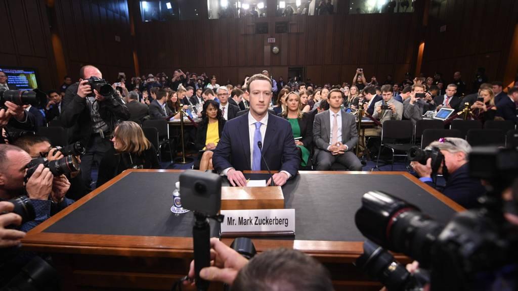 Mark Zuckerberg in US Senate