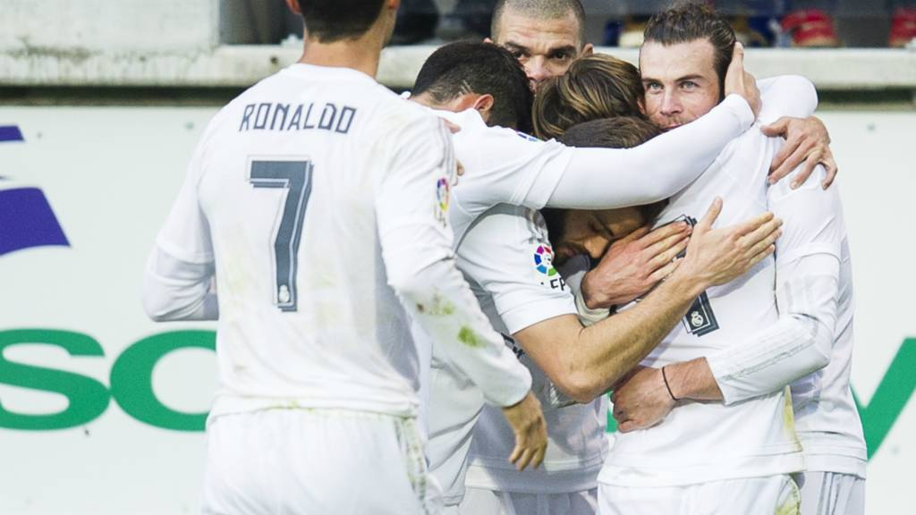 Real Madrid's Gareth Bale celebrates a goal